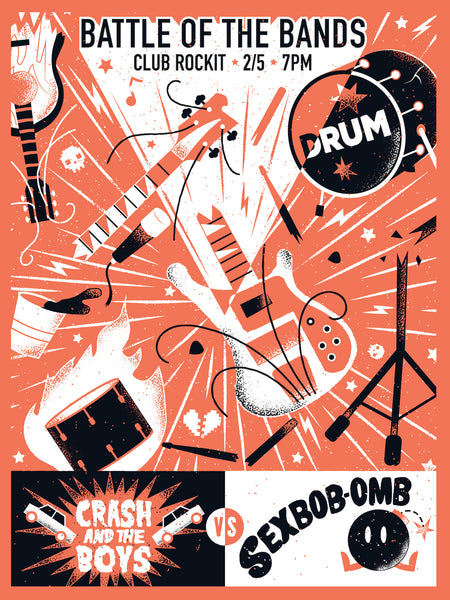 "James Olstein ""The Toronto Battle of the Bands"" Print"