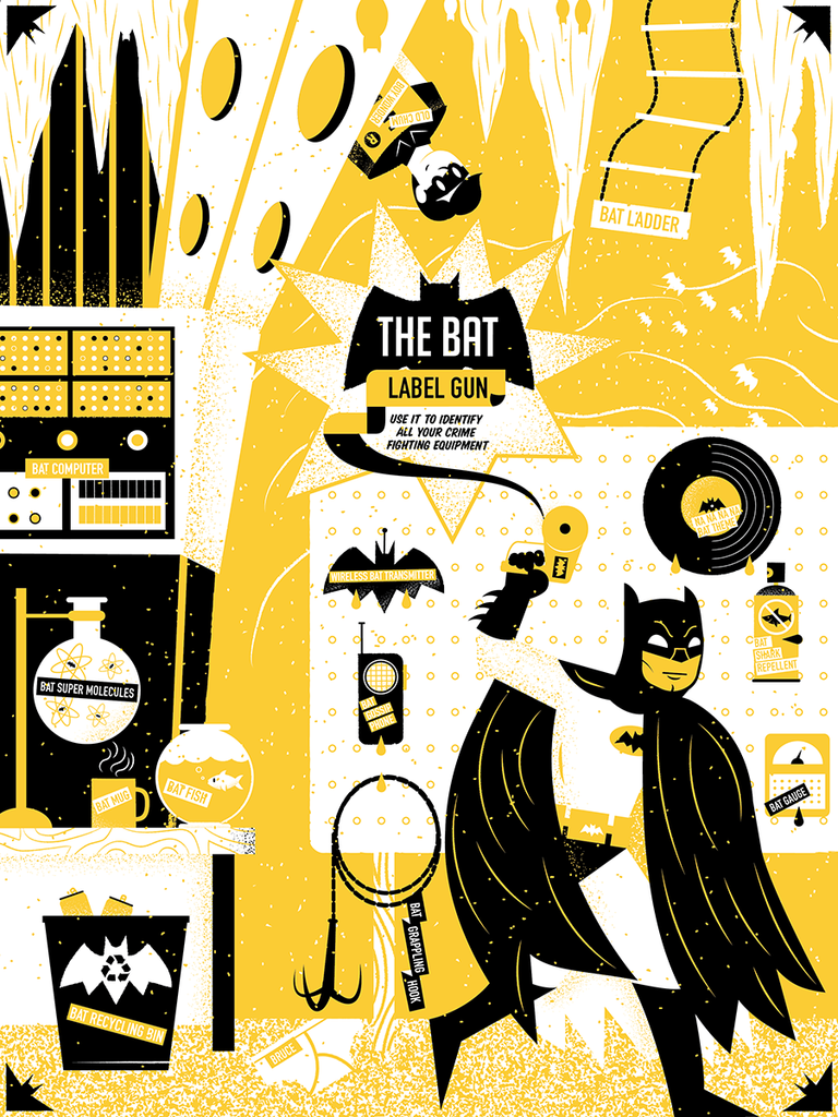 "James Olstein ""Bat Label Gun"" Print"