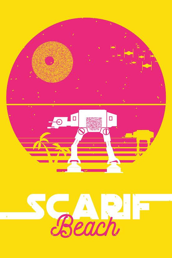 "James Olstein ""Scarif Beach"" Postcard Print"