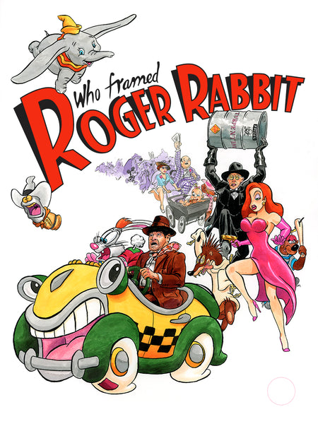 "Jason Chalker ""Who Framed Roger Rabbit"" Print"