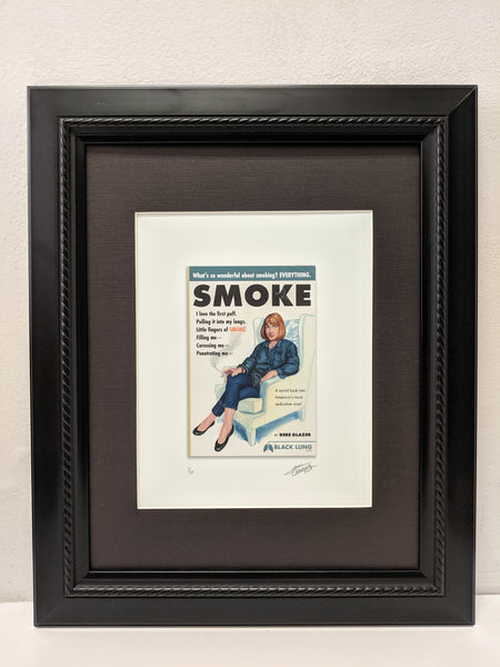 "Jason Chalker ""What's So Wonderful About Smoking?"" Framed Print"