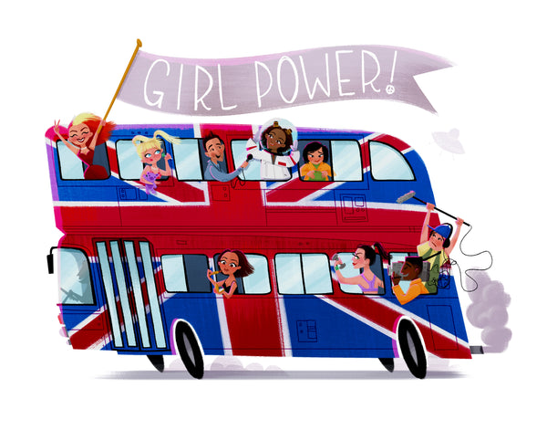 "Jen Taylor ""Girl Power!"" Print"