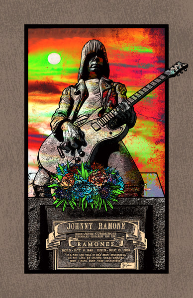 "Jeremy Berkley ""Johnny Ramone Forever"" Print"