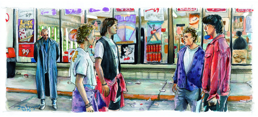 "Jim Ferguson ""Bill and Ted - Strange Things a foot"" Print"
