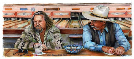"Jim Ferguson ""The Big Lebowski - Sometimes You Eat the Bar"" Print"