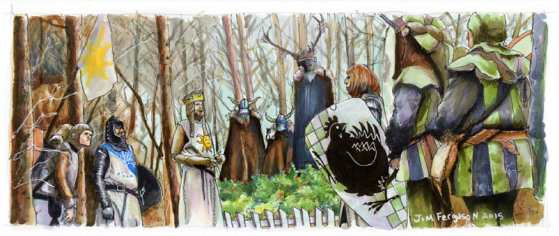 "Jim Ferguson ""Monty Python and the Holy Grail - The Knights Who Say 'Ni!'"" Print"