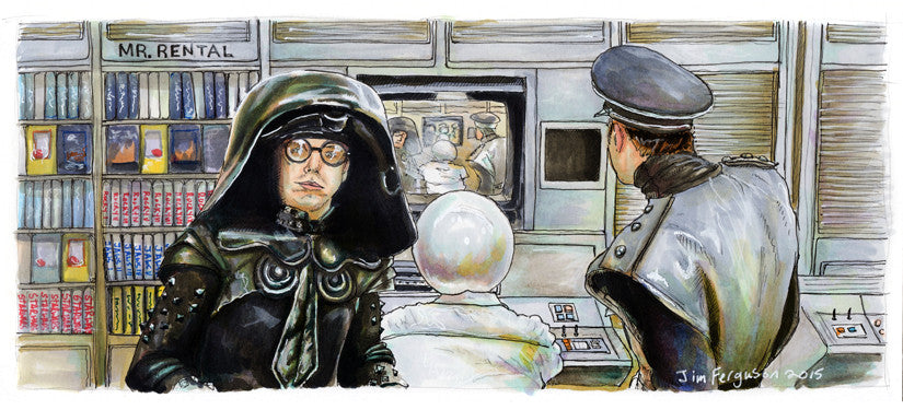 "Jim Ferguson ""Spaceballs - We're at now-now."" Print"