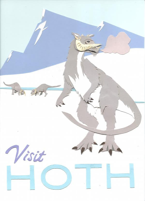 "John Rozum ""Visit Hoth (English version)"" Postcard Print"