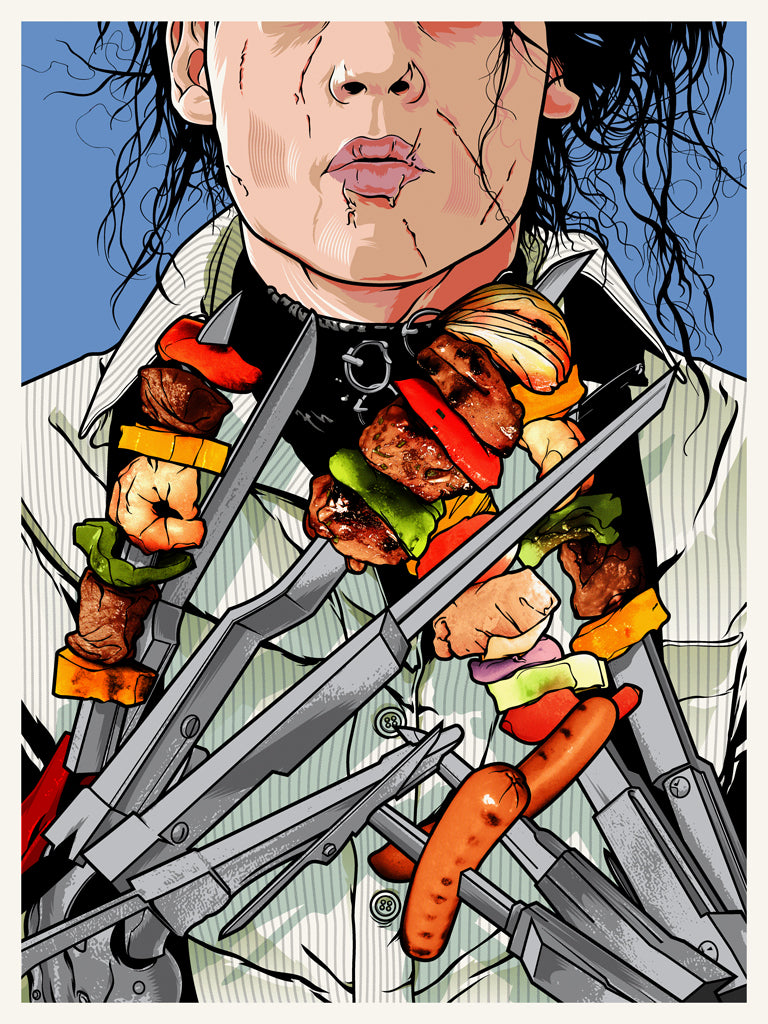 "Joshua Budich ""Soup's On! (Edward Scissorhands)"" Print"