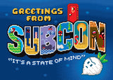 "Jude Buffum ""Greetings from Subcon"" Postcard Print"