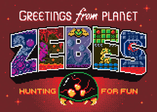 "Jude Buffum ""Greetings from Planet Zebes"" Postcard Print"