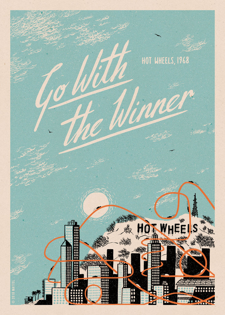 "KONG ""HOT WHEELS HILLS"" Print"