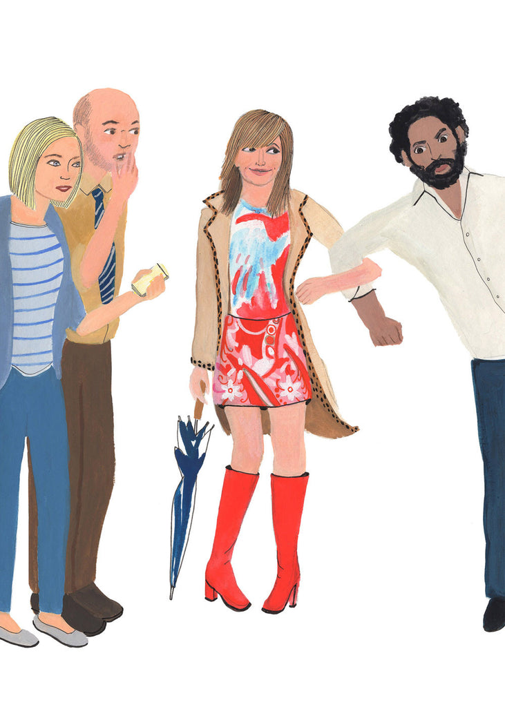 "Kristen Solecki ""Can We Talk About the Red Boots?"" Print"