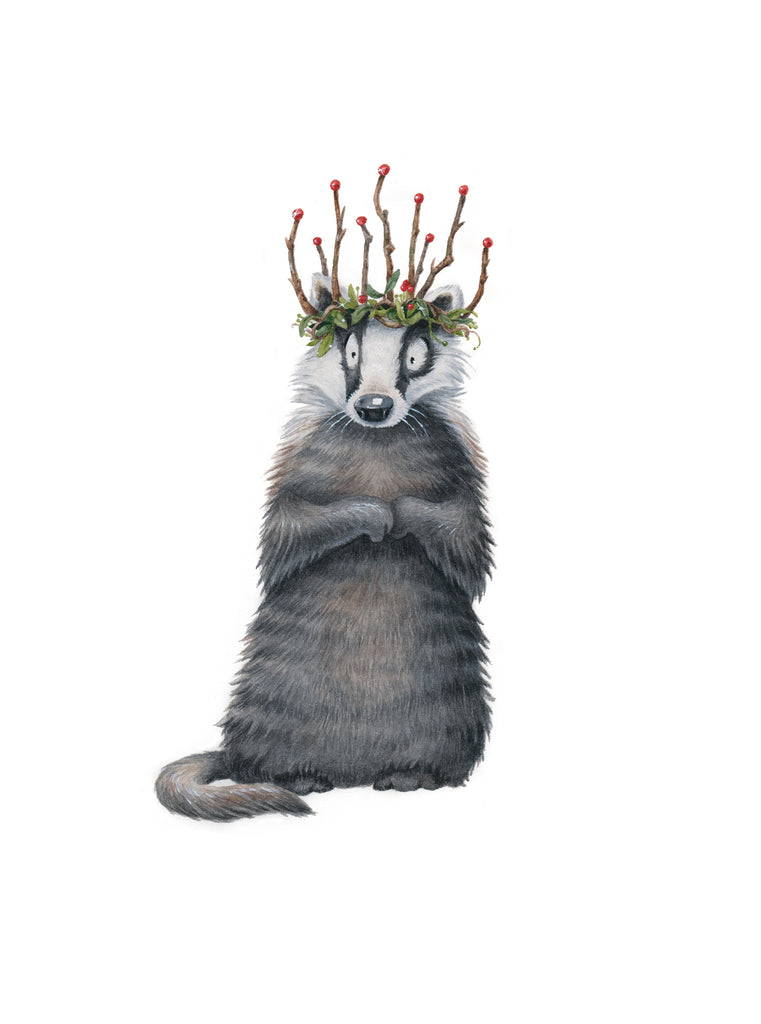 "Kristin Makarius ""Badger King"" Print"