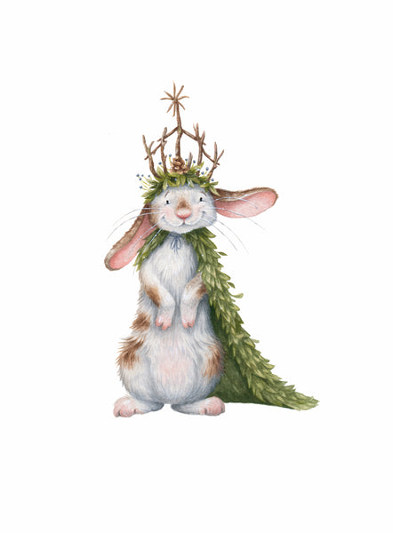 "Kristin Makarius ""Rabbit King"" Print"