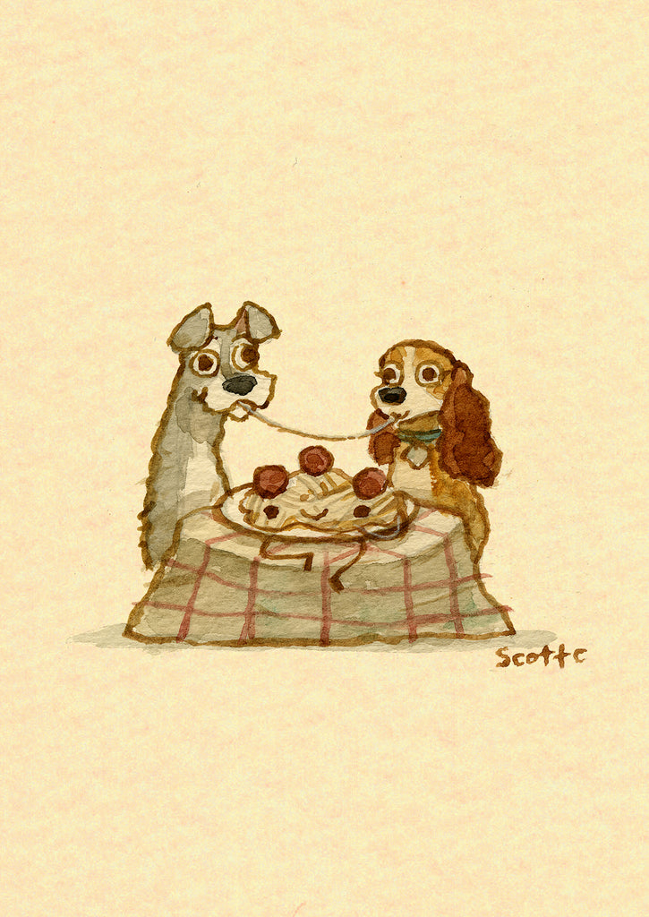 "Scott C. ""Lady and the Tramp Showdown"" Greeting Card"