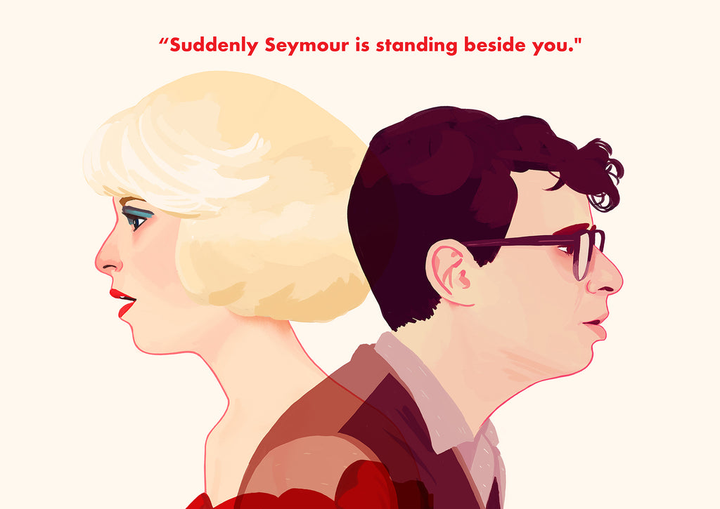 "Nan Lawson ""Suddenly Seymour is standing beside you"" Greeting Card"