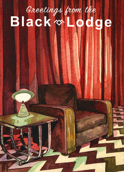 "Lou Pimentel ""Greetings from the Black Lodge"" Postcard Print"