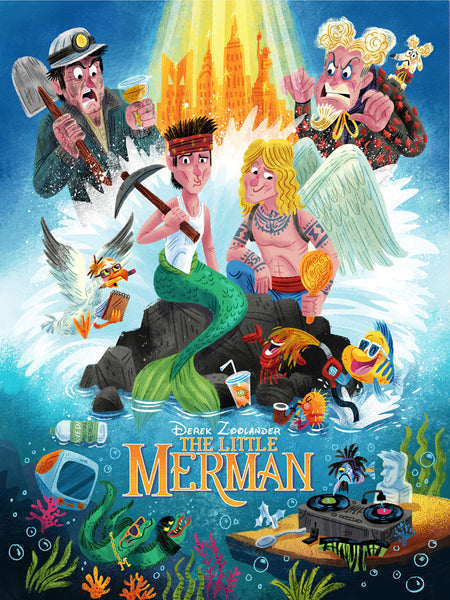 "Luke Flowers ""The Little Merman"" Print"