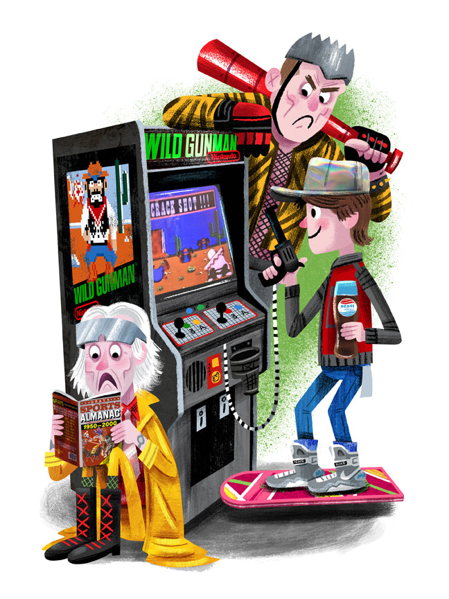 "Luke Flowers ""Arcade Dayz - Back to the Future 2 / Wild Gunman"" Print"