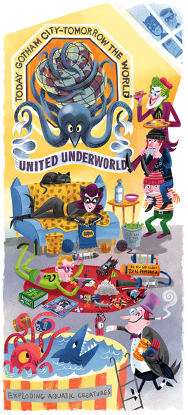 "Luke Flowers ""Down Time In The Underworld"" Print"