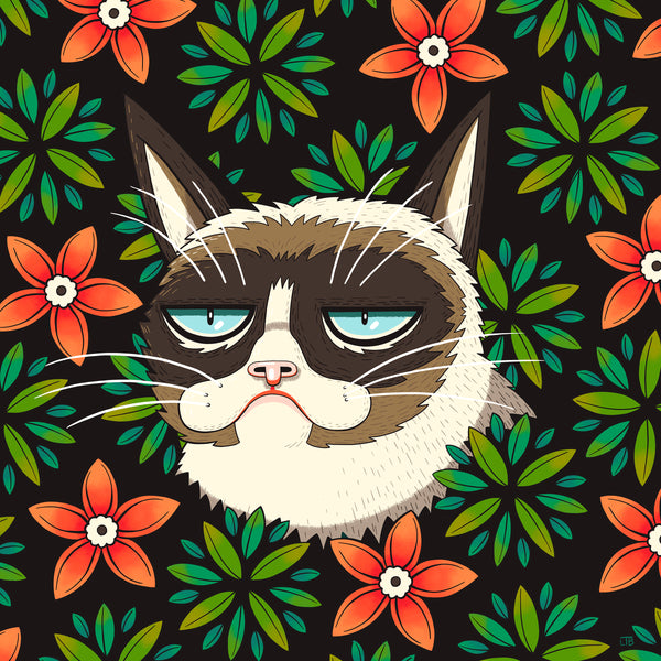 "Luke T. Benson ""Grumpy Cat in the Park"" Print"