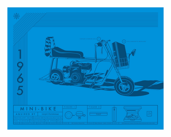 "Jeff Boyes ""1965-Mini-Bike"" Print"