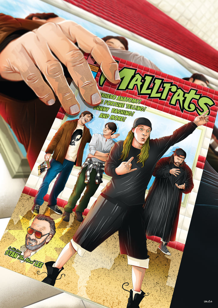 "17th & Oak ""Mallrats"" Print"