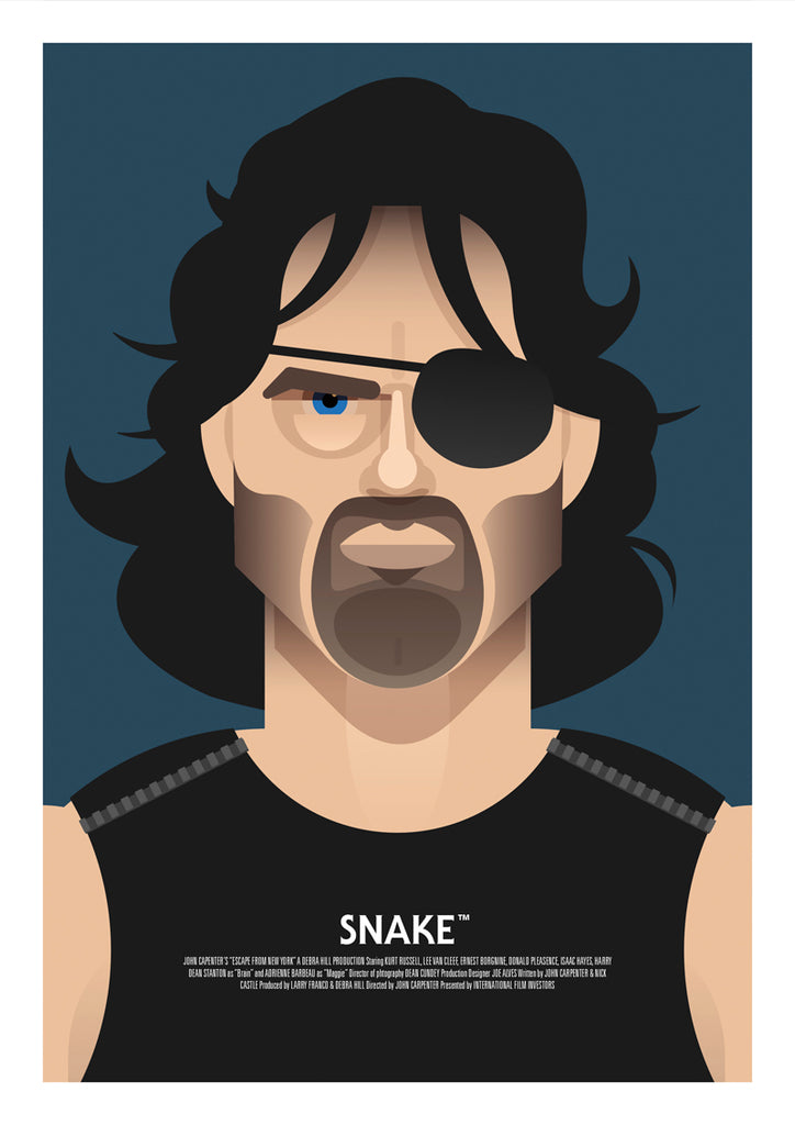 "Martin Donnelly 'Known As Unknown' ""Snake"" Print"