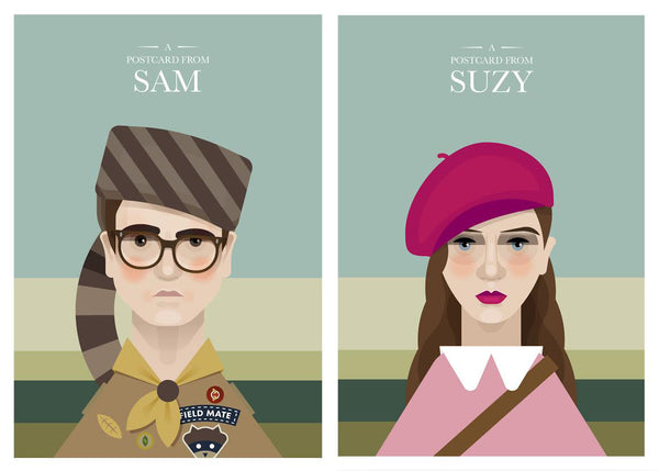 "Martin Donnelly 'Known as Unknown' ""Postcards from Sam & Suzy"" Postcard Print Set"