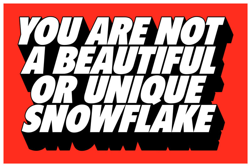 "Matt Chase ""You Are Not A Beautiful Or Unique Snowflake"" Print"