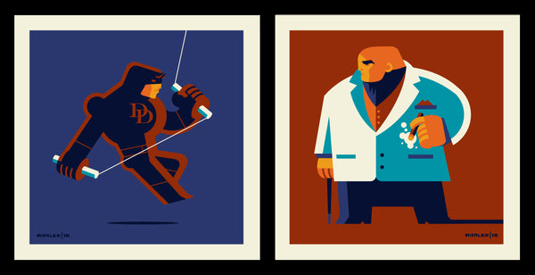 "Tom Whalen ""Matt Vs Wilson"" Print Set"