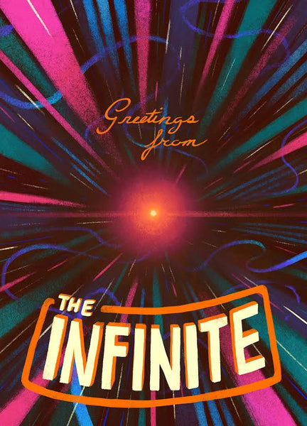 "Matt Rockefeller ""Greetings from the Infinite"" Postcard Print"