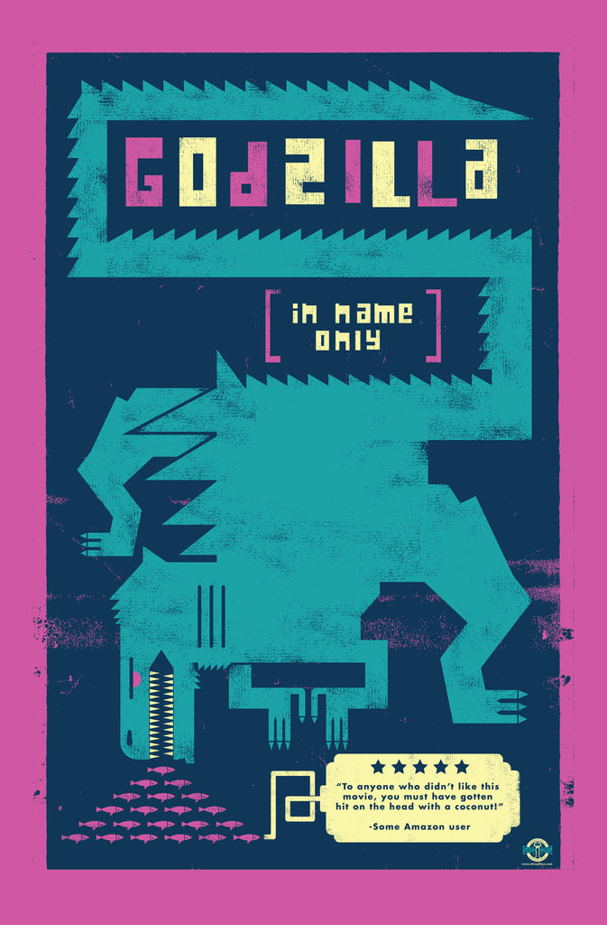 "Matthew Daley ""Godzilla in Name Only (aka: Godzilla 1998)"" Print"