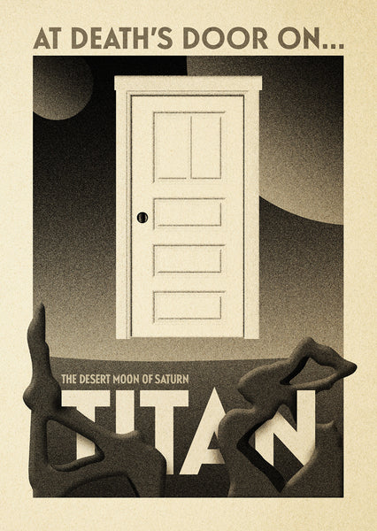 "Michael De Pippo ""At Death's Door on Titan"" Postcard Print"