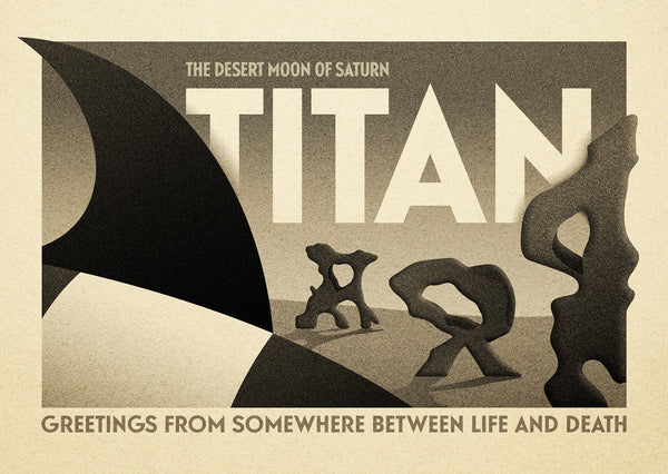 "Michael De Pippo ""Greetings From Titan"" Postcard Print"