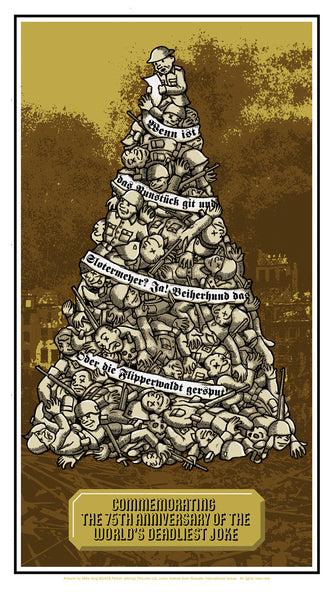 "Mike King ""Commemorating the 75th Anniversary of the World's Deadliest Joke"" Print"