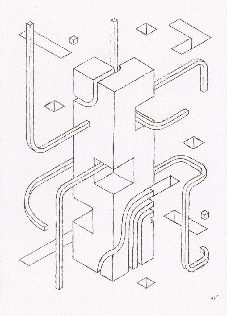 "Andrew DeGraff ""Mini Unfinished Construction Site 1"""