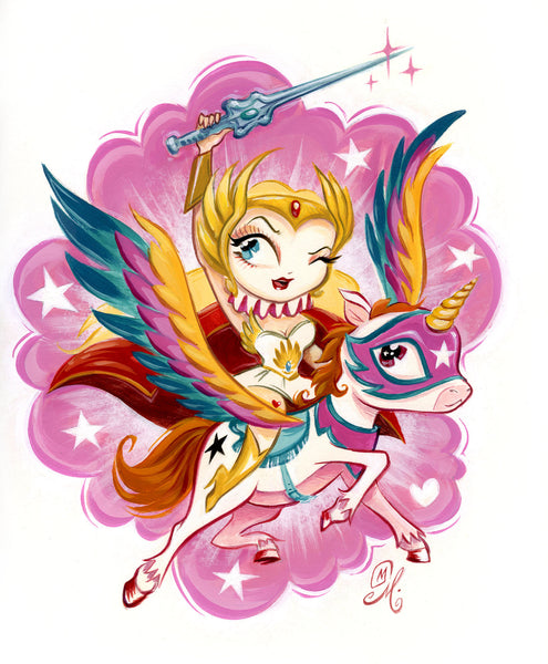 "Miss Mindy ""She-Ra and Swift Wind"" Print"