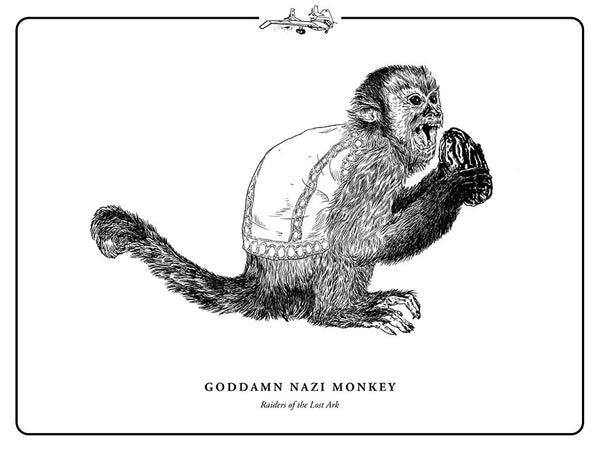 "Evan Yarbrough ""Goddamn Nazi Monkey"" Print"