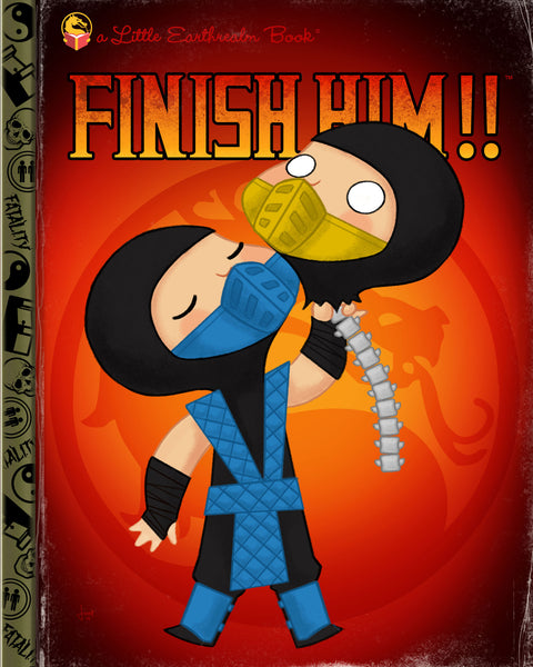 "Joey Spiotto ""Finish Him!!"" Print"