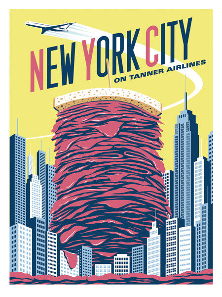 "Eric Tan ""New York City"" Print"