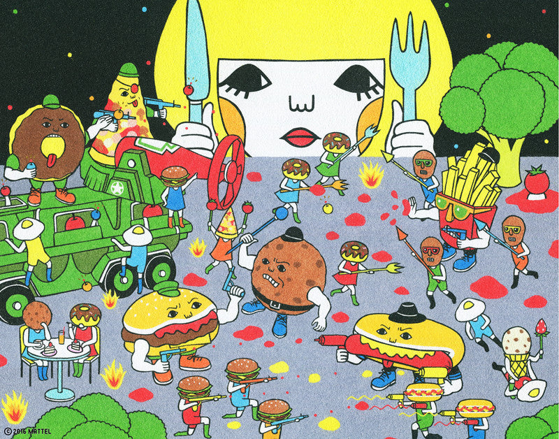 "Naoshi ""Food Fighter"" Print"