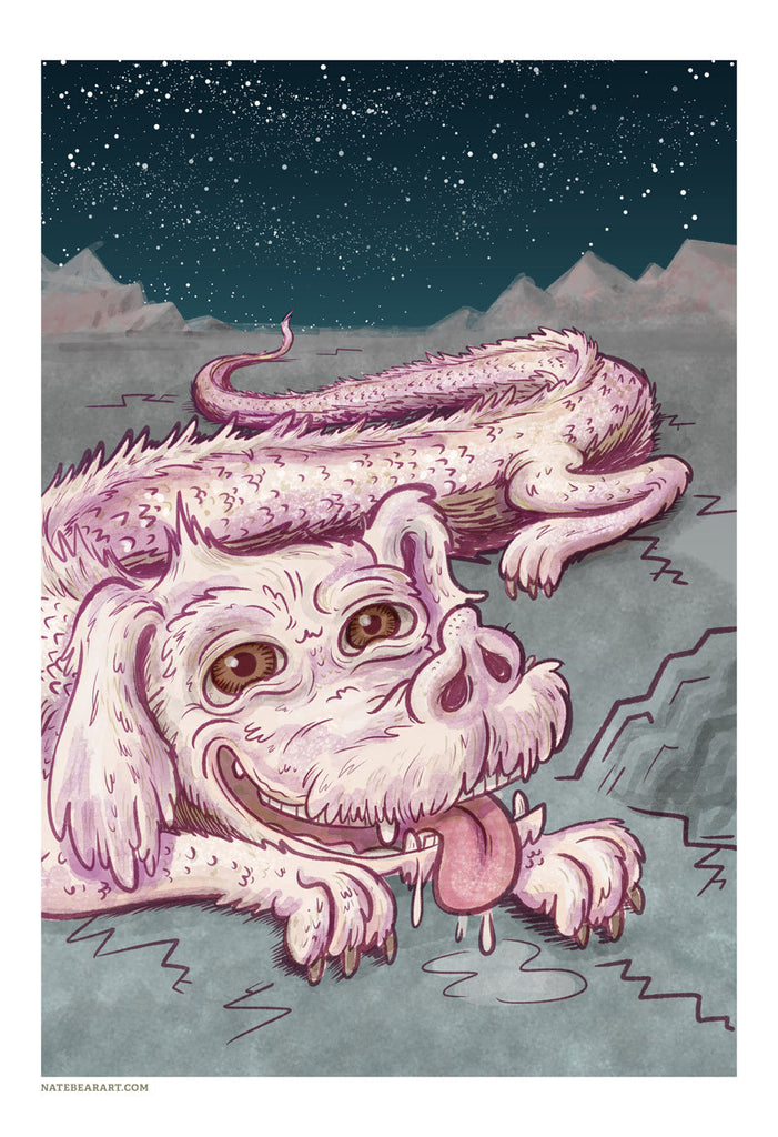 "Nate Bear ""What Up, Falkor!"" Print"