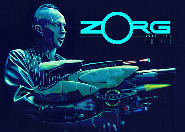 "Nathan Anderson ""Zorg Industries: ZF-1"" Postcard Print"