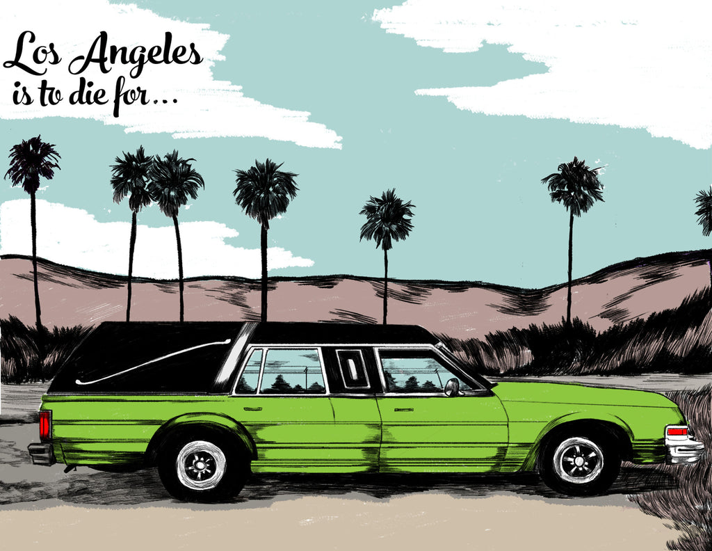 "Nicole Rifkin ""LA is to Die For Fine Art Print"""