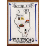 "Oh Sew Nerdy ""Greetings From Illinois: The Prairie State"" Postcard Print"