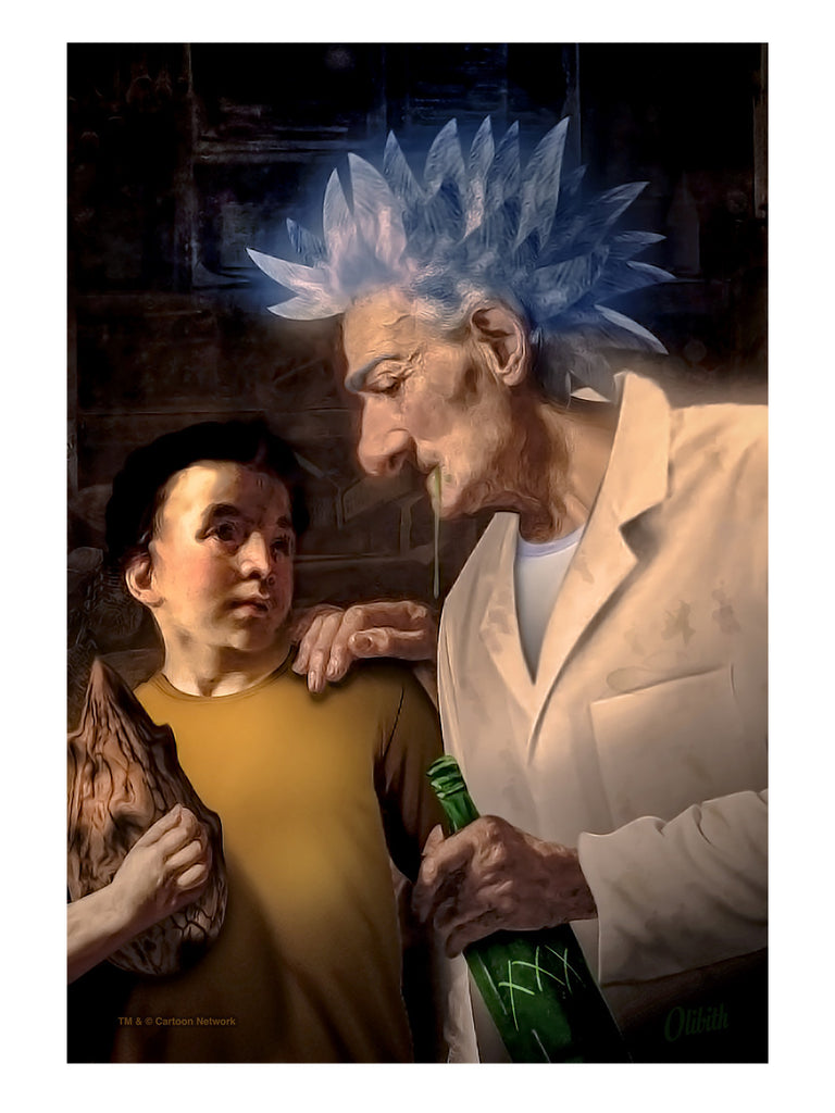 "Olibith Phix ""The Old Man and the (burp) Child"" Print"