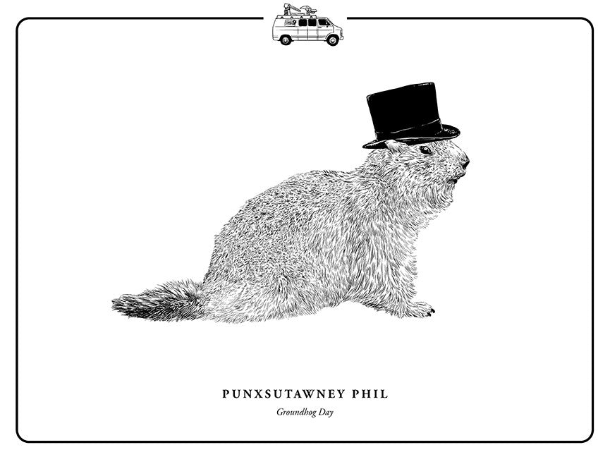 "Evan Yarbrough ""Punxsutawney Phil"" Print"
