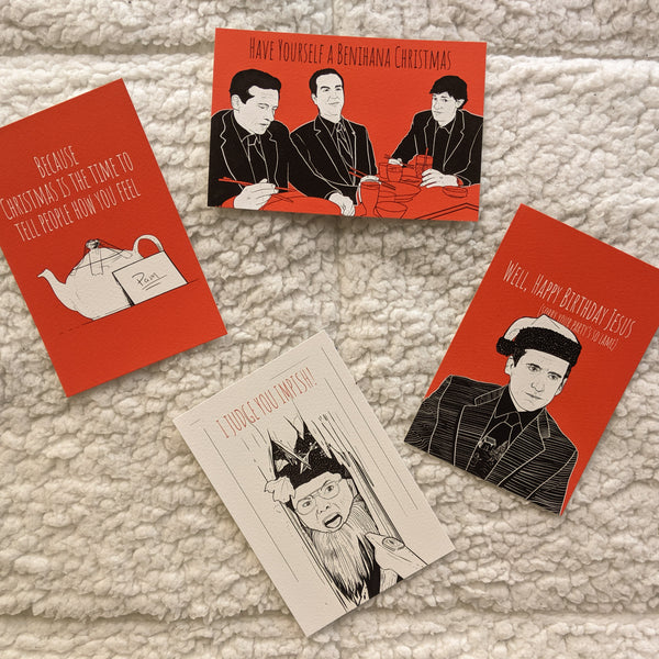 "Raphael Kelly ""The Office Christmas"" Card Set"
